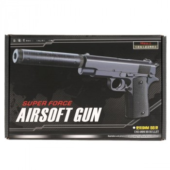 297127   Пистолет (п) металл., съемный магазин, с пульками V2 в кор. в кор.48шт