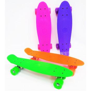 Скейтборд, цветные колеса без подсветки