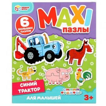 Макси-пазлы для малышей Синий трактор (6 пазлов) Умные игры 4680107906625