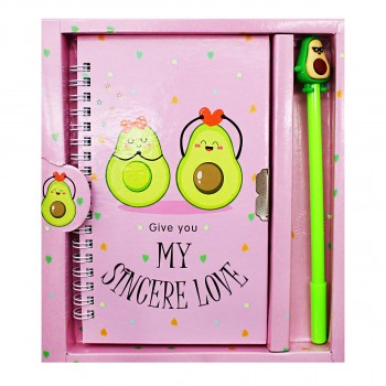 Блокнот с ручкой Авокадо большой 18*20 см