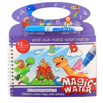 Раскраска водная с фломастером Цифры, буквы Magic Water