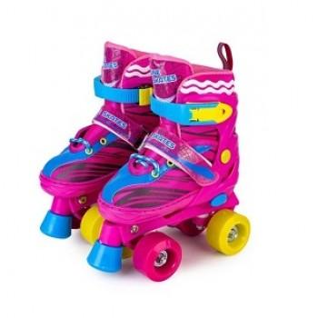 """Роликовые коньки раздвижные двухрядовые Квады """"Roller Skate"""" размер 38-42"""