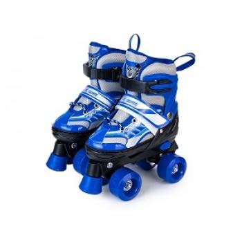 """Роликовые коньки раздвижные двухрядовые Квады """"Roller Skate"""" размер 28-33"""