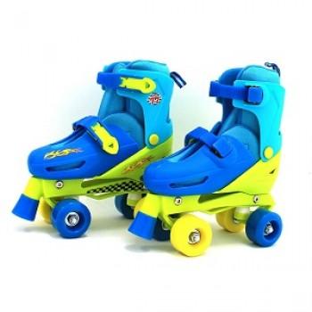 """Роликовые коньки раздвижные двухрядовые Квады """"Roller Skates"""" размер 28-33"""