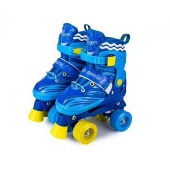 """Роликовые коньки раздвижные двухрядовые Квады """"Roller Skate"""" размер 34-37"""