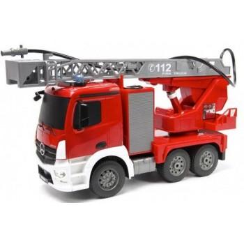 Пожарная машина на РУ с водяной помпой в коробке (56*19*26см)