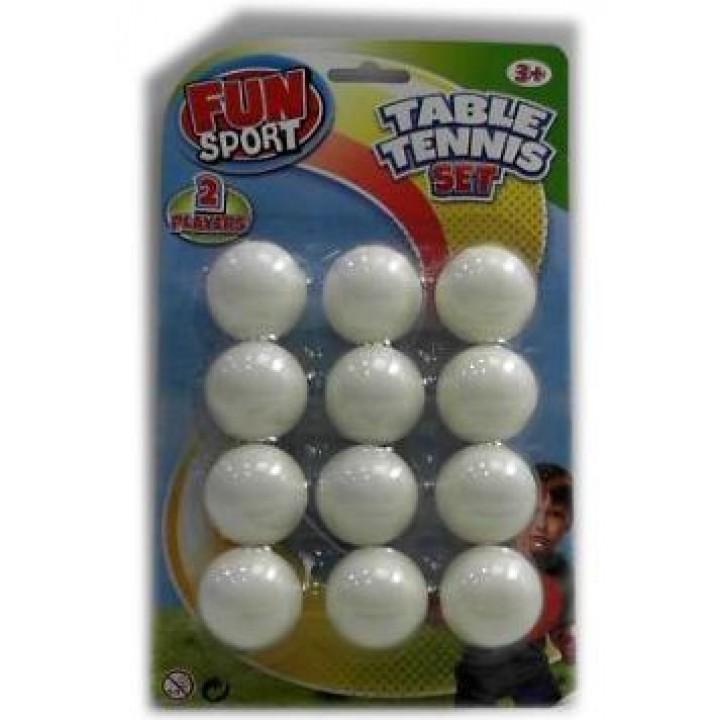 Набор шариков для настольного тениса (12 шт.)