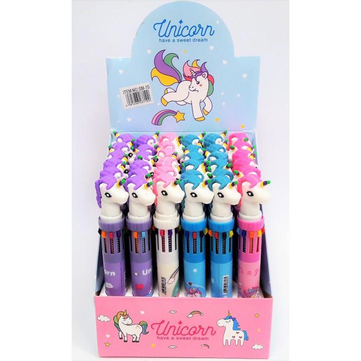 Ручка Единорог 10 цветов