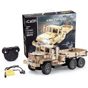 Конструктор CaDa военный грузовик на р/у 545 дет. C51042W