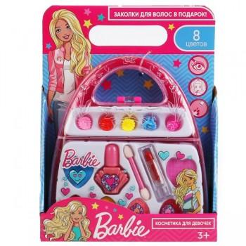 """Косметика для девочек """"Барби"""" тени, лак д/ногтей, помада, заколки, Милая Леди"""