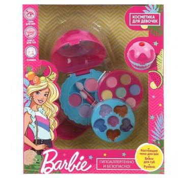 """Косметика для девочек """"Барби"""" тени, румяна, блеск для губ Милая Леди 10390A-BAR"""