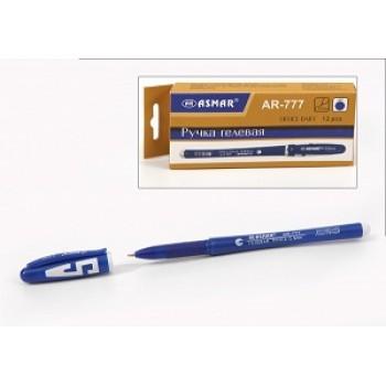 Ручка гелевая синяя цветной корпус Asmar (12шт)