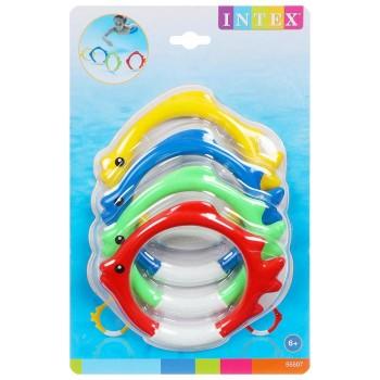 Кольца для игр под водой Рыбки, набор 4 шт