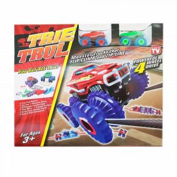 Канатный детский автотрек Trie Trul с 2-мя трюковыми машинками и аксессуарами BB884