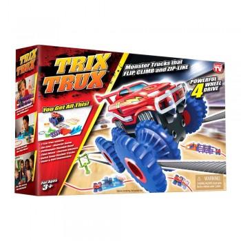 Канатный детский автотрек Trix Trux с 1 трюковой машинкой и аксессуарами AS331