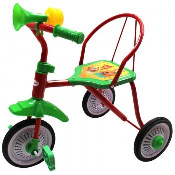 "Велосипед 3кол. ""ТРИ КОТА"" колеса 9 и 8 дюймов мет.+ резина, в ассорт. в кор.6шт"