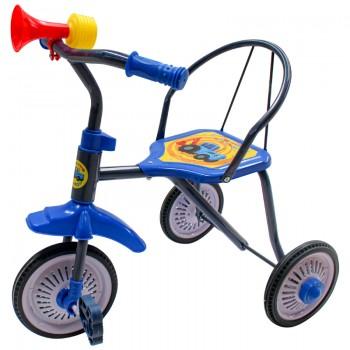 """Велосипед 3кол. """"Синий трактор"""" колеса 9 и 8 дюймов мет.+резина, в ассорт. в кор.6шт"""