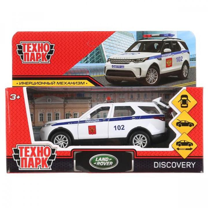 Машина металл land rover discovery полиция 12см,откр. двери,инерц,белый в кор Технопарк в кор.2*36шт