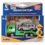 Машины металл Камаз эвакуатор 12см, инерц. +Toyota Land Cruiser 7,5см в кор. Технопарк в кор.2*24шт