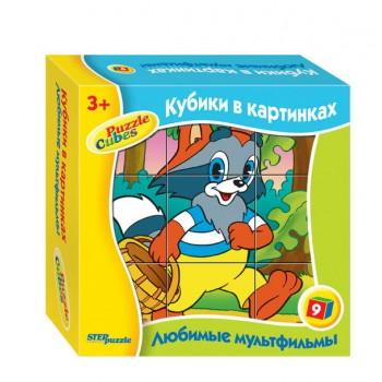 """Кубики СМФ""""Любимые мультфильмы-1"""" 9дет."""