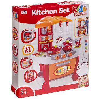 """Н-р""""Кухня""""31 предмет со звук.и световым эффектом в коробке"""