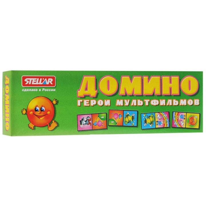 Домино Герои мультфильмов в картонной коробке