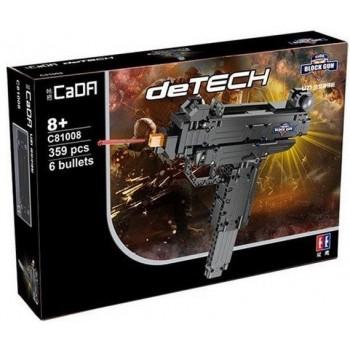 Конструктор CaDa deTech пистолет-пулемет Micro Uz 359 дет. C81008W