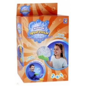 Мыльные пузыри Прыгунцы пенные 2 в 1