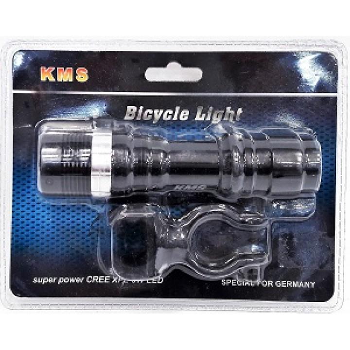 Фонарь для велосипеда KMS CREE XPE 3W LED