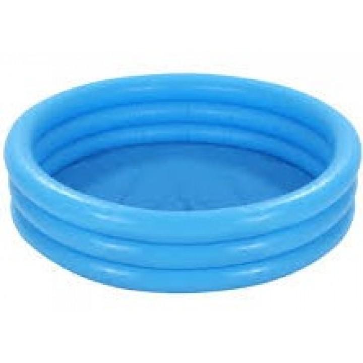Бассейн надувной детский голубой 168х40см.