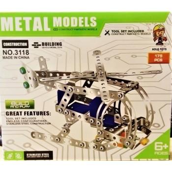 Конструктор  металлический Вертолет 175 дет. Metal Models