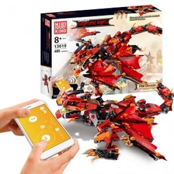 Конструктор Огненный Дракон на р/у 485 дет. Mould King