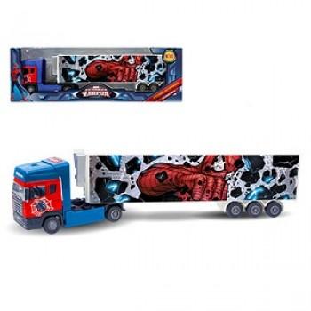 Машина Тягач с полуприцепом Marvel, металл 32 см.