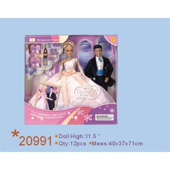 Куклы жених и невеста с аксессуарами