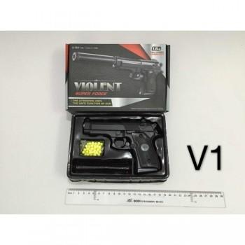 Пистолет (п) металл., съемный магазин V1 в кор.