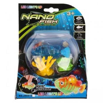 Рыбка NanoFish со светом на батарейках JH6616