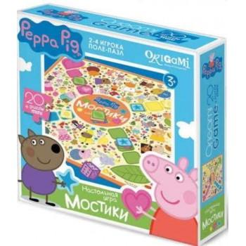 Настольная игра Peppa Pig поле-пазл Мостики