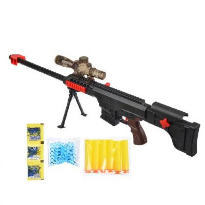 Ружье с прицелом (пули гидрогель, мяг. пули)