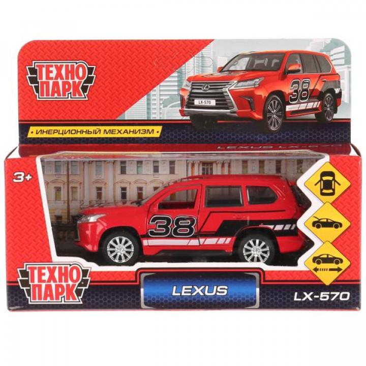 "Машина металл ""LEXUS LX-570 СПОРТ"", 12см, открыв. двери, инерц. в кор. Технопарк в кор.2*36"