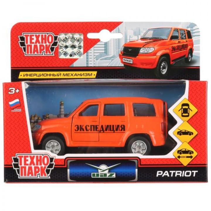 Машина металл УАЗ Patriot экспед. 12см,открыв. двери и багажник,инерц. в кор. Технопарк в к