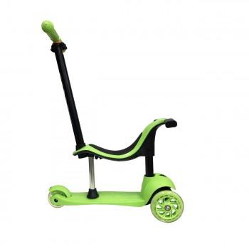 Самокат 5в1 Scooter SK-028 зеленый, колеса светятся
