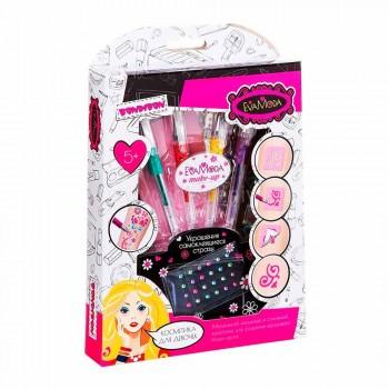 Набор детской декоративной косметики для боди-арта с глиттер-карандашами Bondibon Eva Moda BB2813