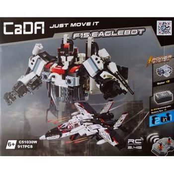 Конструктор CaDa Робот-истребитель на р/у 917 дет. C51030W