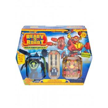 Игрушка Ready2Robot Две капсулы (в т.ч. Горец) и оружие, кор.