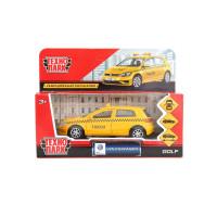 Машина Volkswagen Golf Такси 12 см желтая металл инерция Технопарк GOLF-T