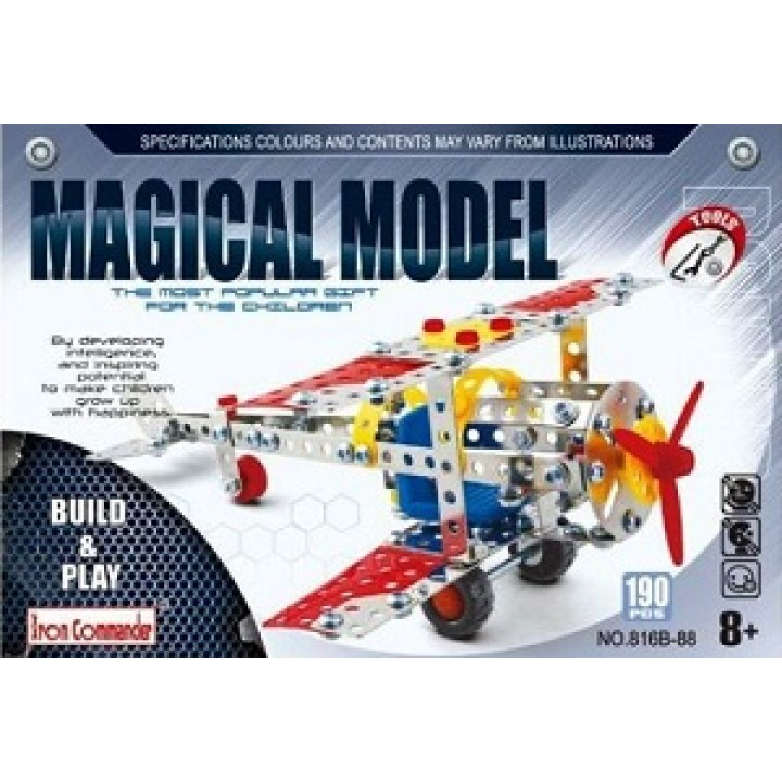 Конструктор металлический Самолет 190 дет. Magical Model