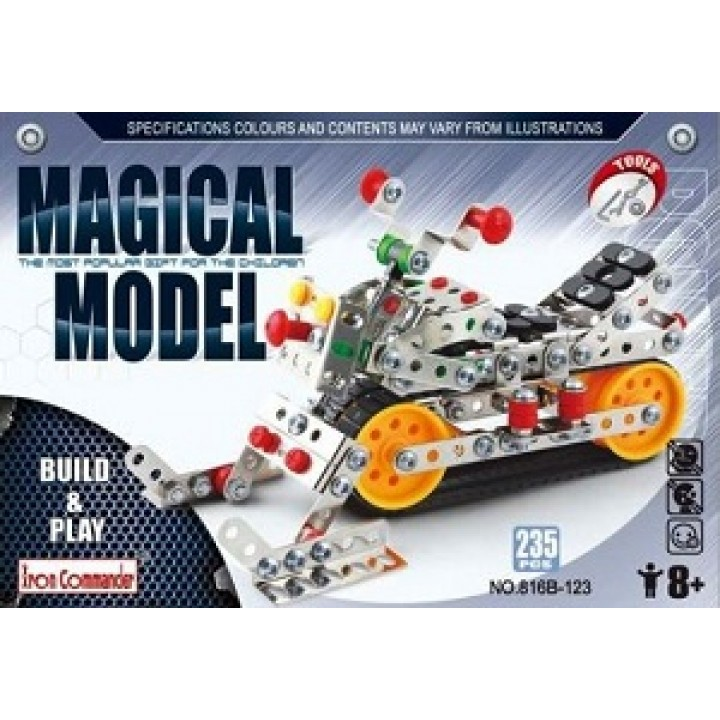 Конструктор металлический Мотоцикл 235 дет.Magical Model