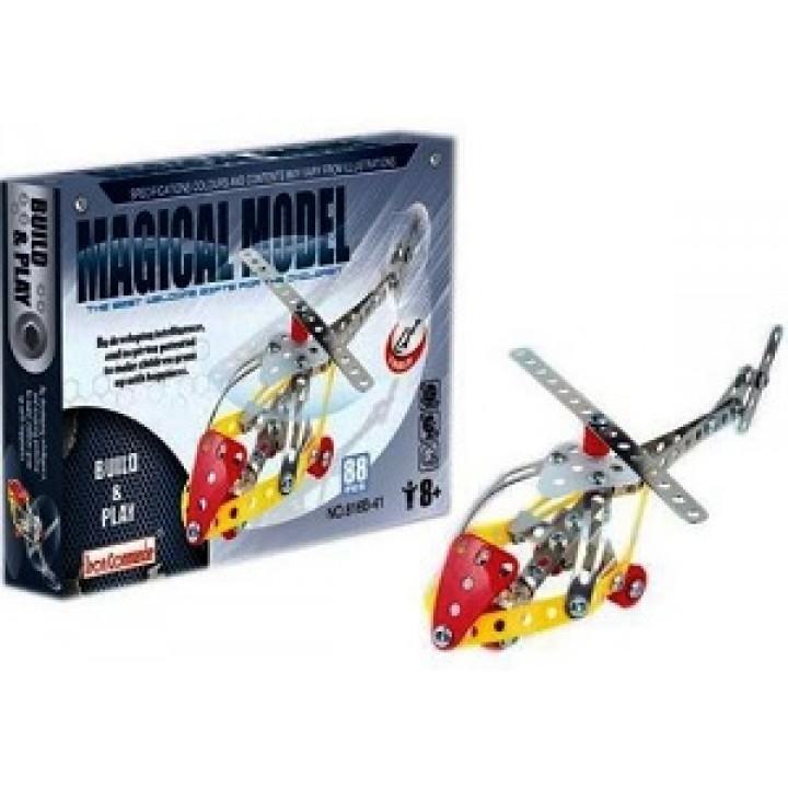 Конструктор металлический Вертолет 88 дет. Magical Model