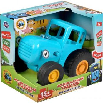 Музыкальная игрушка-каталка «Синий трактор» 15+ песен и звуков, свет Умка HT848-R
