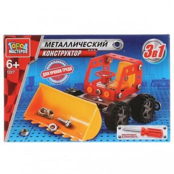 Конструктор  металлический Трактор 80 дет. Город Мастеров